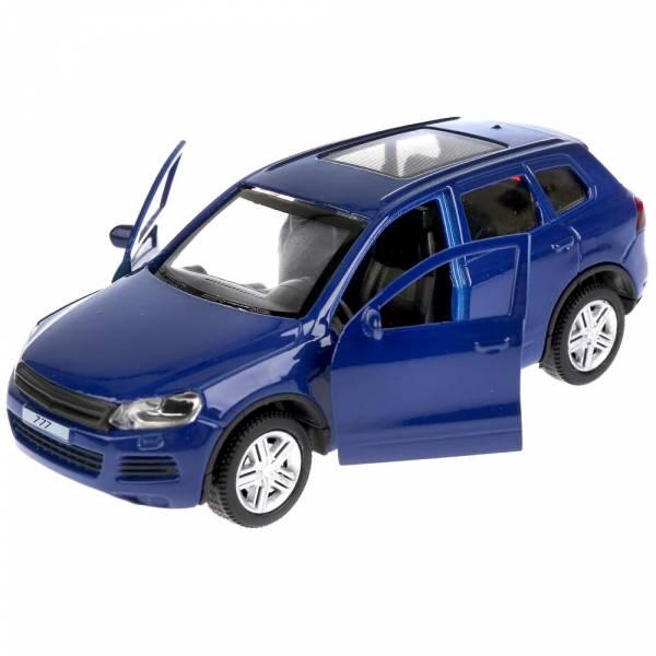 """ТМ Технопарк. Машина металлическая """"VW TOUAREG"""", длина 12см, открываются двери, инерционная, цвет СИНИЙ"""