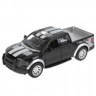 """Машина металл """"ПИКАП"""" 12,5 см, инерционная, открывающие  двери, подвеска, черный Технопарк"""